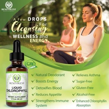 Chlorophyll Liquid Drops|Energy Boost | Immune System Support|