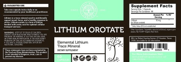 Lithium Orotate|Trace Minerals|