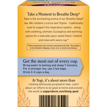 Yogi Tea - Breathe Deep |1 Pack|16 teabags|