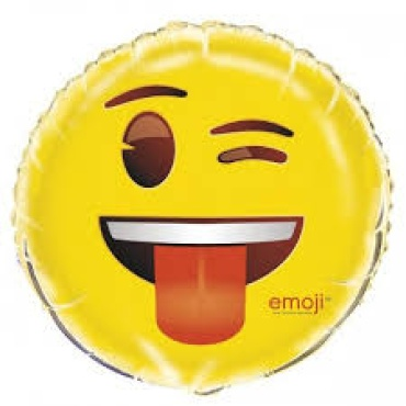 Wink Eye Tongue Out Mylar balloon