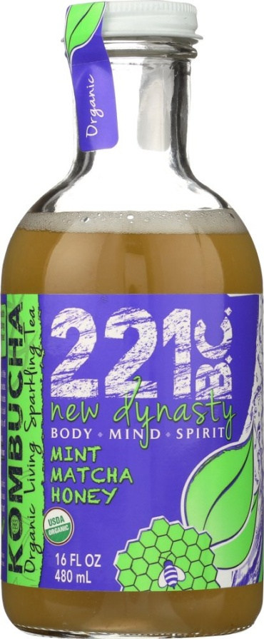 221 BC Kombucha|Matcha Honey Mint|16 oz